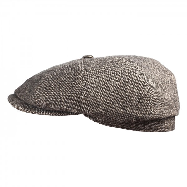 Flat Cap 'Gibson' by FeineHüteBerlin New Wool Salt&Pepper