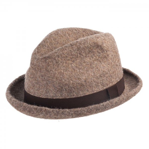 FeineHueteBerlin Player Panito Retro Homburger online kaufen Recycelte Wolle
