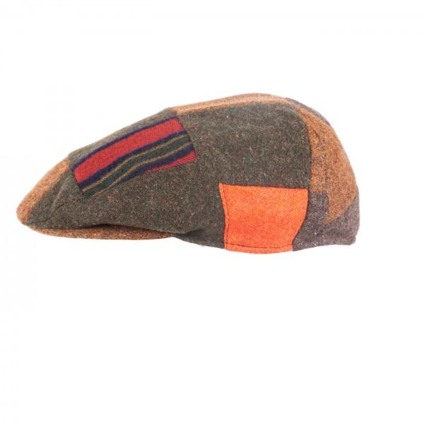 FeineHueteBerlin Schiebermuetze Maceo MultiCulti Patchwork Mehrfarbig Vintage online kaufen Schurwolle