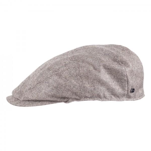 Stetson Flatcap Bandera Grau Schurwolle