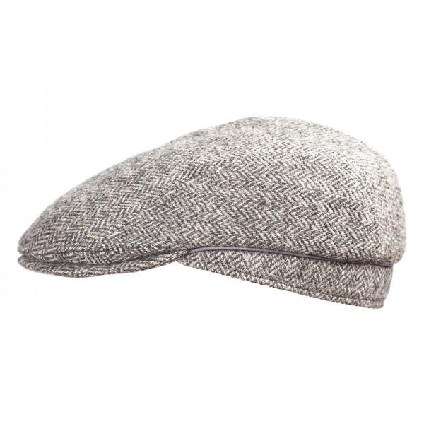 FeineHuete Flatcap Wolle JohnnyBeGood Grau Fischgraet