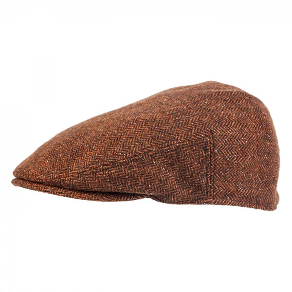 FeineHuete Flatcap Wolle Maceo Braun Fischgraet