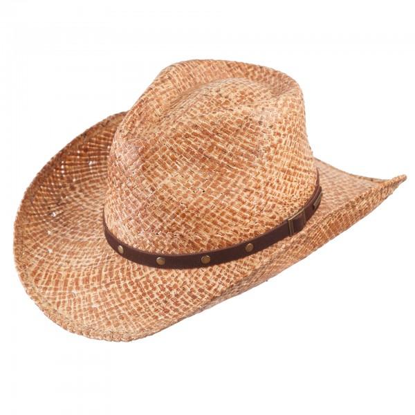 Cowboy Strohhut von Stetson Western Used Look