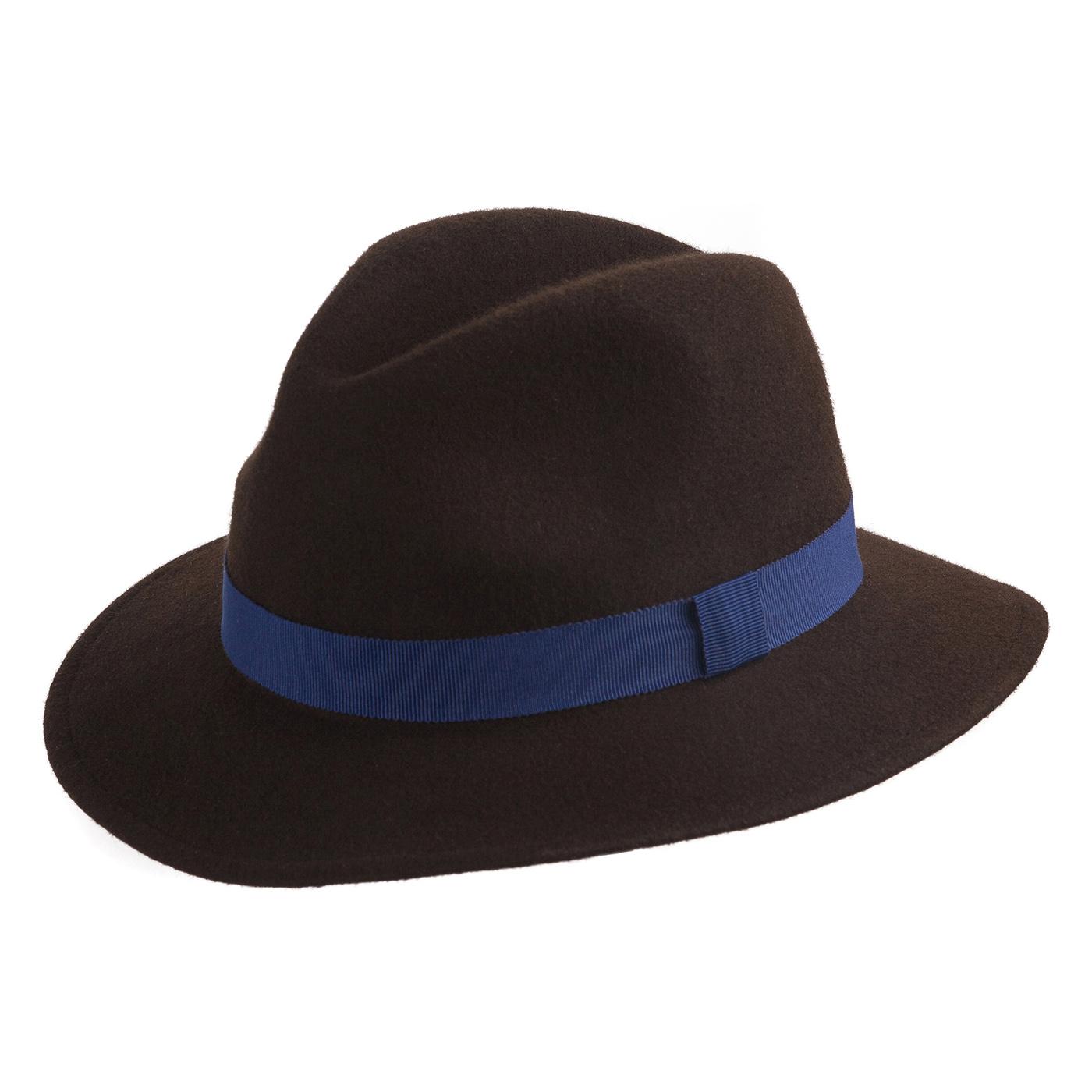 Faustmann Woll Traveller dunkelblau Outdoor Hut wasserabweisend