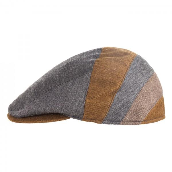 FeineHueteBerlin Schiebermuetze Stanislaus Mehrfarbig Patchwork Cap Flatcap online kaufen Wolle