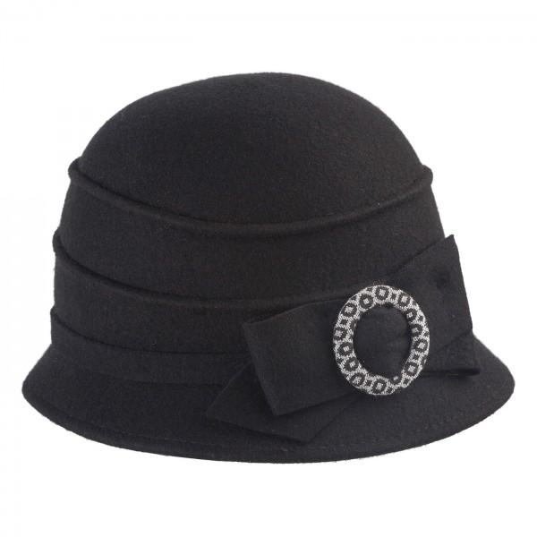Faustmann Damen 20erJahreGlocke Schleifenringgarnitur Vintage Wollfilz1