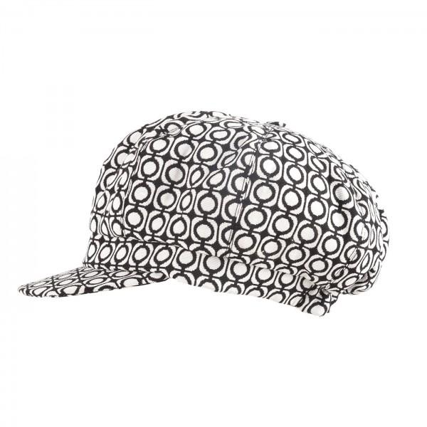 FeineHueteBerlin Ballonmuetze Ornella Weiss Gepunktet exklusiv online kaufen Baumwollmix2