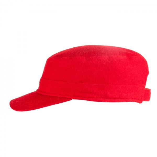 FeineHueteBerlin Schirmmuetze Habana Rot Damen Herren Cap Schurwolle