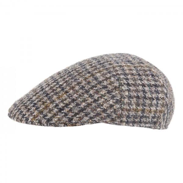 Faustmann Schiebermuetze HarrisTweed Grau Kariert Cap Flatcap exklusiv online kaufen Schurwolle